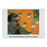 Autorretrato de Eugene Enrique Paul Gauguin Poster