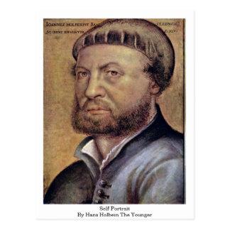 Autorretrato de Hans Holbein el más joven Tarjeta Postal