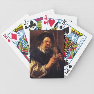 Autorretrato de Jacob Jordaens- como jugador de la Baraja De Cartas