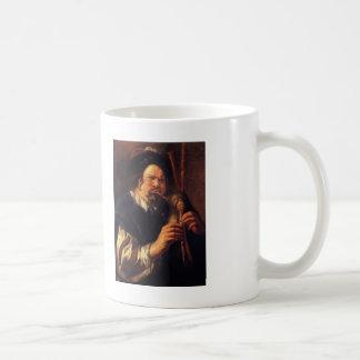 Autorretrato de Jacob Jordaens- como jugador de la Taza De Café