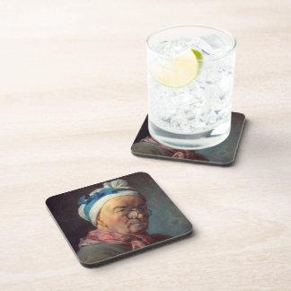 Autorretrato de Jean Simeon Chardin- con las gafas Posavasos De Bebida