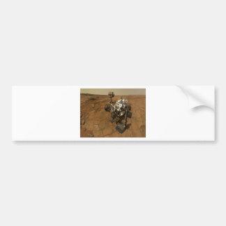 Autorretrato de la curiosidad de Marte Pegatina Para Auto
