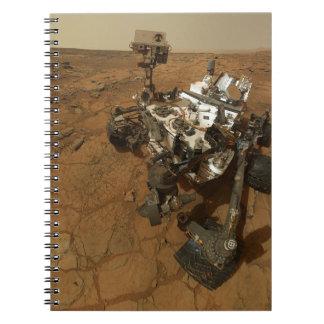 Autorretrato de la curiosidad de Marte Libros De Apuntes Con Espiral