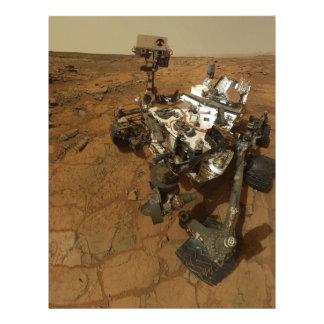 Autorretrato de la curiosidad de Marte Membrete A Diseño