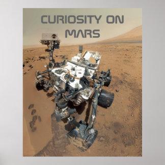 Autorretrato de la curiosidad en Marte Póster