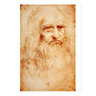 Autorretrato de Leonardo da Vinci circa 1510-1515 Postales