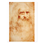 Autorretrato de Leonardo da Vinci circa 1510-1515 Postal