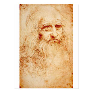 Autorretrato de Leonardo da Vinci circa 1510-1515 Tarjetas Postales