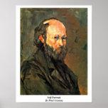 Autorretrato de Paul Cezanne Impresiones