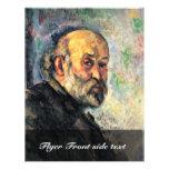 Autorretrato de Paul Cézanne (la mejor calidad) Tarjetas Publicitarias