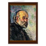 Autorretrato de Paul Cézanne (la mejor calidad) Tarjeta