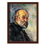 Autorretrato de Paul Cézanne (la mejor calidad) Tarjeta Postal