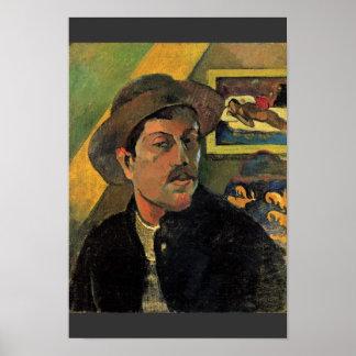 Autorretrato de Paul Gauguin (la mejor calidad) Póster