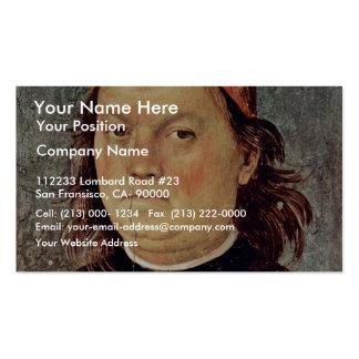 Autorretrato de Perugino Pedro la mejor calidad Tarjeta De Visita