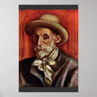 Autorretrato de Pierre-Auguste Renoir Póster