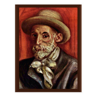 Autorretrato de Pierre-Auguste Renoir Postal