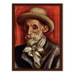 Autorretrato de Pierre-Auguste Renoir Tarjeta Postal