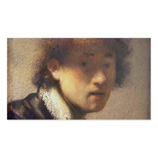 Autorretrato de Rembrandt en una edad temprana Tarjeta De Visita