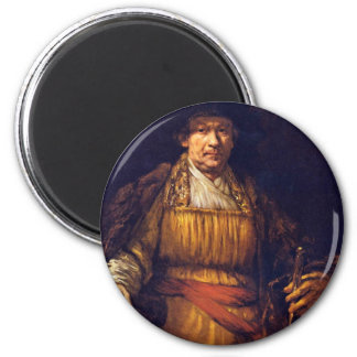 Autorretrato de Rembrandt Harmensz. Van Rijn Imanes