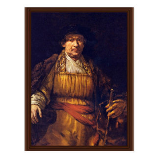 Autorretrato de Rembrandt Harmensz. Van Rijn Tarjetas Postales