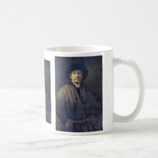 Autorretrato de Rembrandt Harmensz. Van Rijn Taza De Café