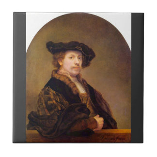 Autorretrato de Rembrandt Harmenszoon van Rijn Teja Ceramica