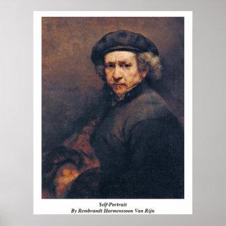 Autorretrato de Rembrandt Harmenszoon Van Rijn Poster