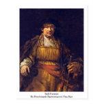 Autorretrato de Rembrandt Harmenszoon Van Rijn Tarjeta Postal