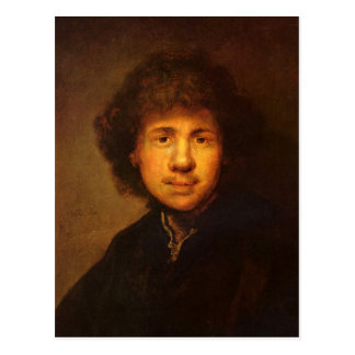 Autorretrato de Rembrandt Harmenszoon van Rijn Postales