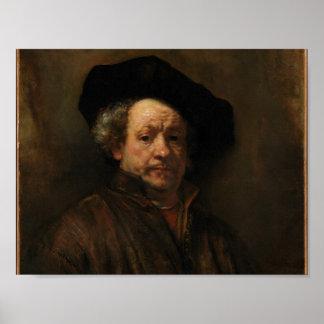 Autorretrato de Rembrandt Póster