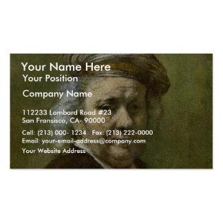 Autorretrato de Rembrandt Van Rijn Tarjetas De Negocios