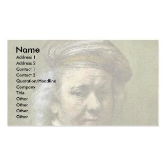 Autorretrato de Rembrandt Van Rijn Tarjetas Personales