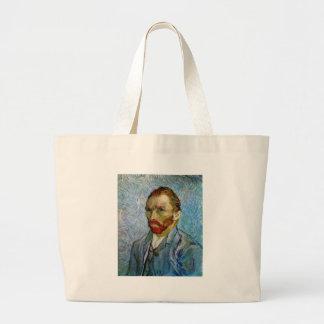 Autorretrato de Van Gogh Bolsa De Tela Grande