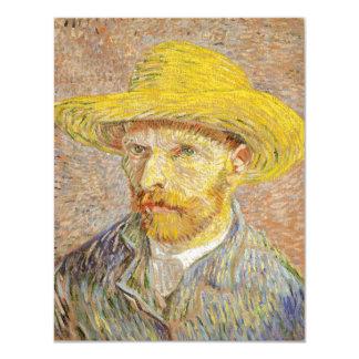Autorretrato de Van Gogh con el gorra de paja Invitación 10,8 X 13,9 Cm