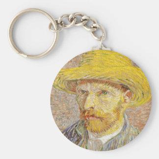 Autorretrato de Van Gogh con el llavero del gorra