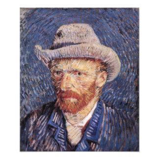 Autorretrato de Van Gogh con el sombrero de fieltr Fotografías