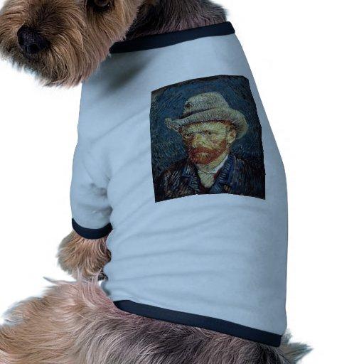 Autorretrato de Van Gogh con el sombrero de fieltr Camisetas De Mascota
