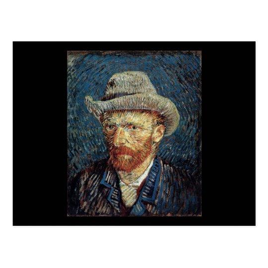 Autorretrato de Van Gogh con el sombrero de Postales