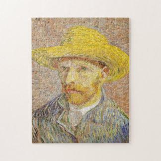 Autorretrato de Van Gogh con rompecabezas del gorr