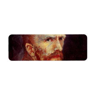 Autorretrato de Van Gogh Etiquetas De Remite