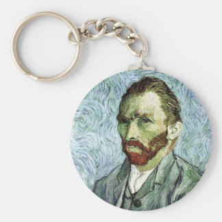 Autorretrato de Van Gogh Llavero Redondo Tipo Pin
