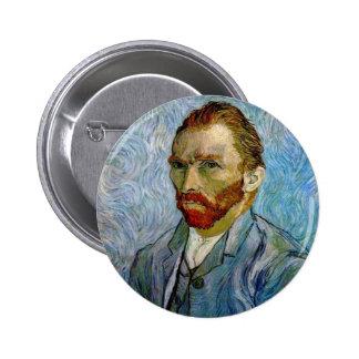 Autorretrato de Van Gogh Pin Redondo De 2 Pulgadas