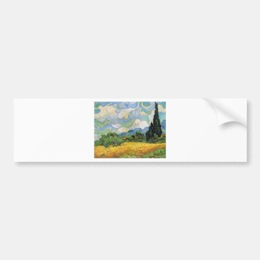 Autorretrato de Vincent van Gogh Pegatina De Parachoque