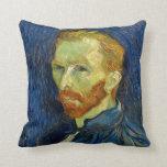 Autorretrato de Vincent van Gogh con la paleta Cojin