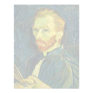 Autorretrato de Vincent van Gogh con la paleta Membrete A Diseño