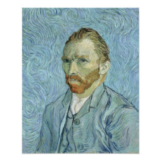 Autorretrato de Vincent van Gogh el  , 1889 Póster