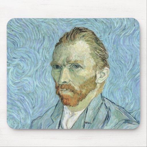Autorretrato de Vincent van Gogh el  , 1889 Tapetes De Ratón