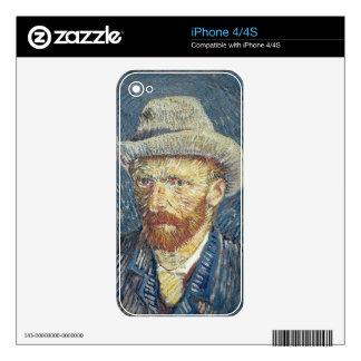 Autorretrato de Vincent van Gogh el   con el Calcomanías Para iPhone 4
