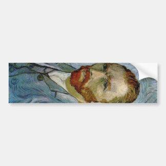 Autorretrato de Vincent van Gogh Pegatina Para Auto
