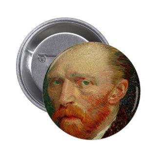 Autorretrato de Vincent van Gogh Pin Redondo 5 Cm